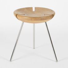 Tribo Stool Polished Stainless Steel