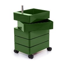 360° Container 5 Drawers Green
