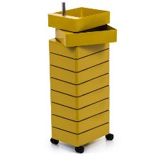 360° Container 10 Drawers Yellow