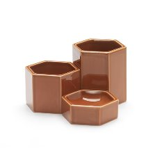 Hexagonal Containers Rusty Orange