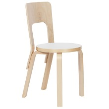 Chair 66 White Laminate/Birch  주문후 2~3개월 소요
