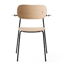 Co Chair With Armrest Black Steel/Natural Oak 현 재고