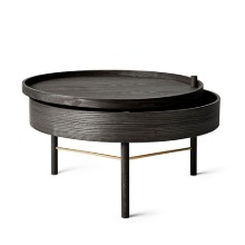 Turning Table Black Ash/Brass
