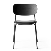 Co Chair Upholstered Seat Black Steel/Black Oak/Dakar 0842