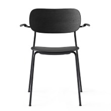Co Chair With Armrest Black Steel/Black Oak  현 재고