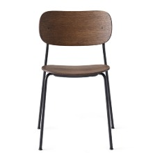 Co Chair Black Steel/Dark Stained Oak