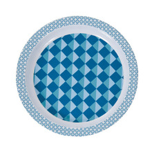 Large plate graphic blue