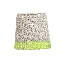 Handknitted cotton lamp neon dip (20% sale)