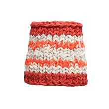 Handknitted cotton lamp red and orange (20% sale)