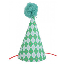 Postcard Party Hat Lozenge