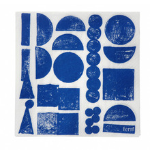 Stamp Napkins Blue