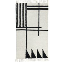 Kelim Rug Black lines Small (20% sale)