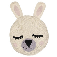 Cream Sleepy Bunny Snuggle Cushion