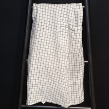 Japanese Apron Adult Black Checks