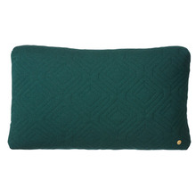 Quilt Cushion Dark Green 60x40