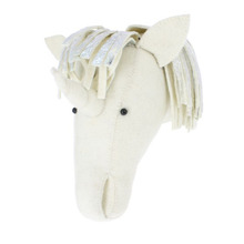 Semi Silver Unicorn Head