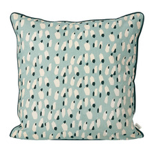 Spotted Cushion Dusty Blue