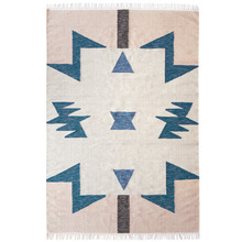 Kelim Rug Blue Triangles Large (20% sale)