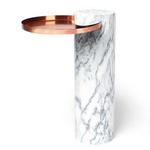 Salute High White Marble Cooper Tray
