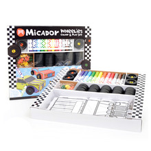 Wheelies Colour & Play Set