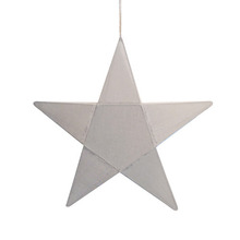 Star Lantern Silver Grey Small