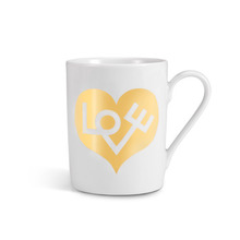 Coffee Mug Love Gold