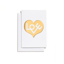 Greeting Card Small Love Heart Gold