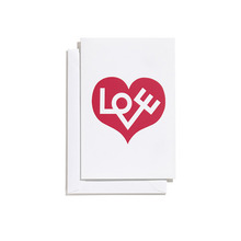 Greeting Card Small Love Heart Red