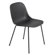 Fiber Side Chair Tube base Black/Black