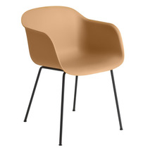 Fiber Armchair Tube Base Ochre/Black