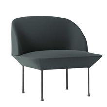 Oslo Lounge Chair Steelcut 180/Dark Grey Legs