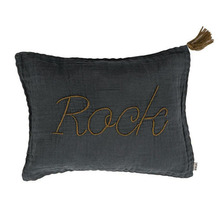 Cushion Message Rock Dark Grey