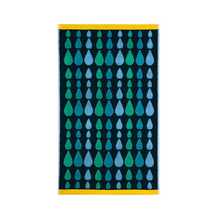 Rain Drops Hand Towel Green