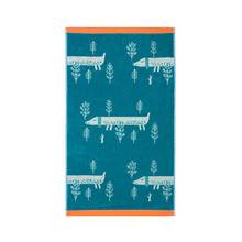 Sausage Dog Hand Towel Blue
