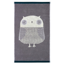 Owl Bath Towel Grey