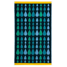 Rain Drops Bath Towel Green