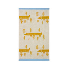 Sausage Dog Bath Towel Mustard