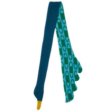 Peacock Scarf Large Blue/Green