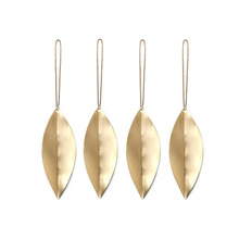Leaf Brass Ornaments Set of 4