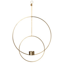 Hanging Tealight Deco Circular Brass
