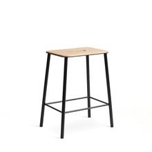 Adam Stool H50  Oak/Matt Black