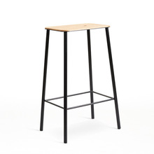 Adam Stool Oak/Matt Black H65