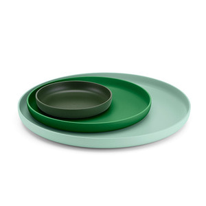 Trays Set of 3 Green