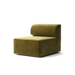 Eave Modular Sofa 86 Open Section City Velvet Yellow Khaki