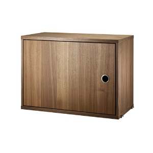 Cabinet with Swing Door Walnut