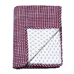 Reversible Quilted Bed Cover Triangles 150x220cm