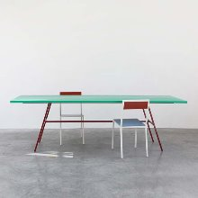 Long Table Green Top/Red Legs