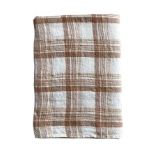 Duvet Cover 140x200cm Caramel Checks